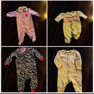 Other - 0/3 m baby girls set of 4 pjs
